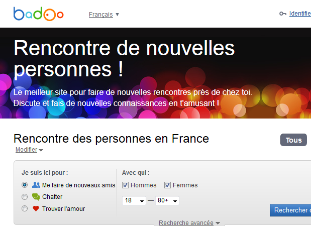 Site rencontre badoo paris