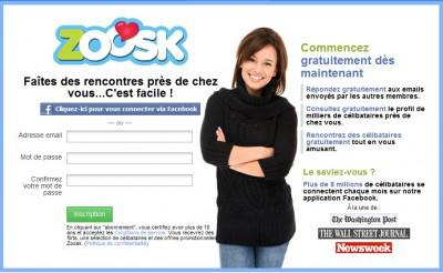 Rencontre zoosk facebook